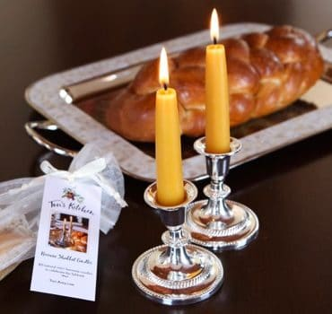 Tori's Kitchen Beeswax Shabbat Candles