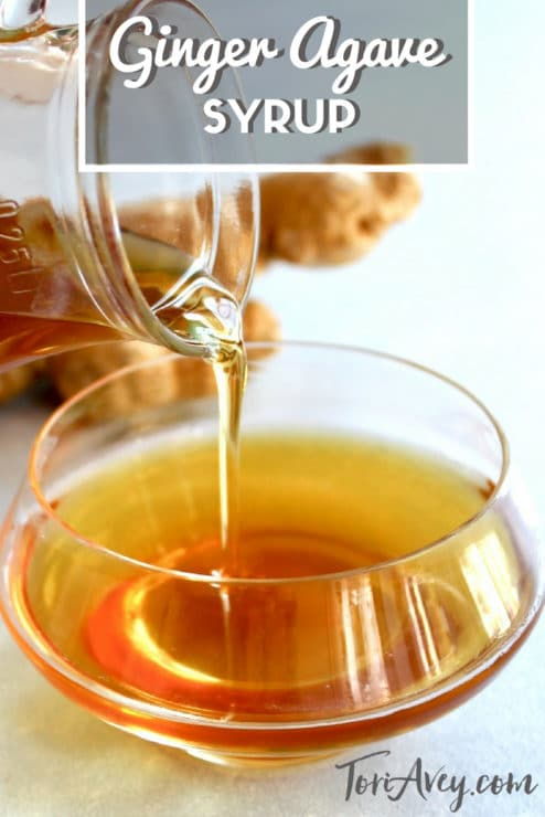 Ginger Agave Syrup Pinterest Pin on ToriAvey.com