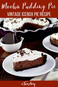 Mocha Pudding Pie Pinterest image.