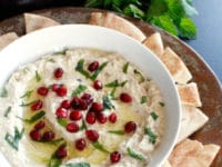 Roasted Eggplant Yogurt Dip Pinterest Pin on ToriAvey.com