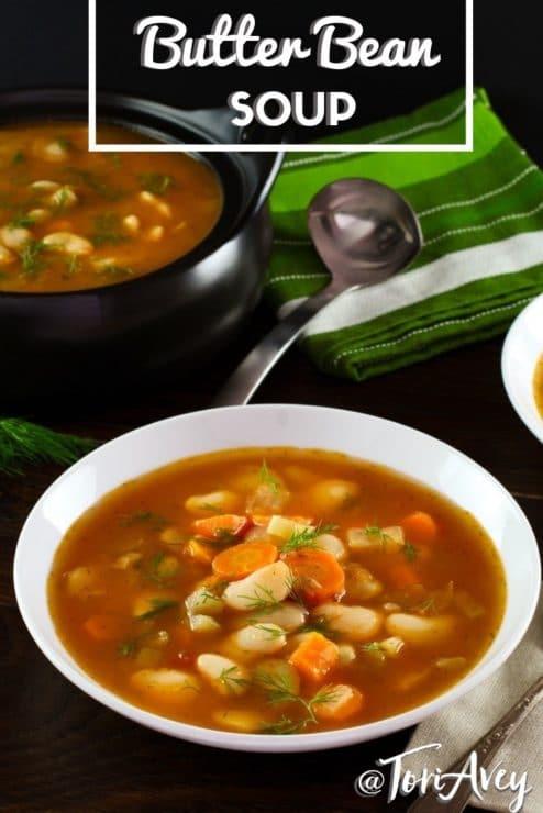 Butter Bean Soup Pinterest image.