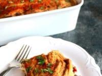Hummus Baked Vegan Moussaka Pinterest Pin on ToriAvey.com