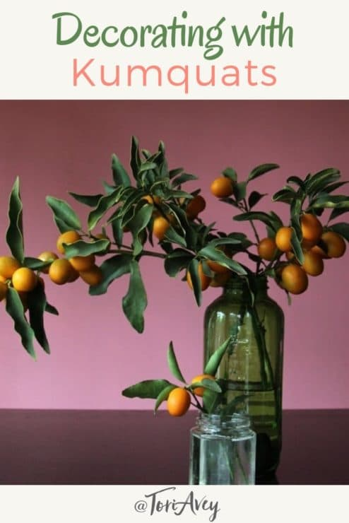 Decorating with Kumquats - Pinterest Pin on ToriAvey.com