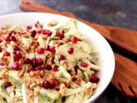 Fennel Apple Salad with Cider Tahini Dressing Pinterest Pin