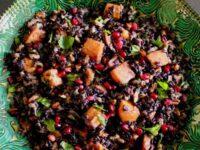 Jeweled Black Rice Salad Pinterest Pin on ToriAvey.com