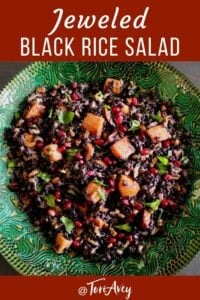 Jeweled Black Rice Salad Pinterest Pin on ToriAvey.com