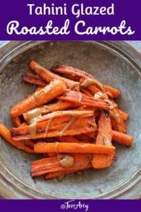 Tahini-Glazed Roasted Carrots Pinterest Pin