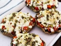 Roasted Portobello Pepper Caps with Goat Cheese Pinterest Pin